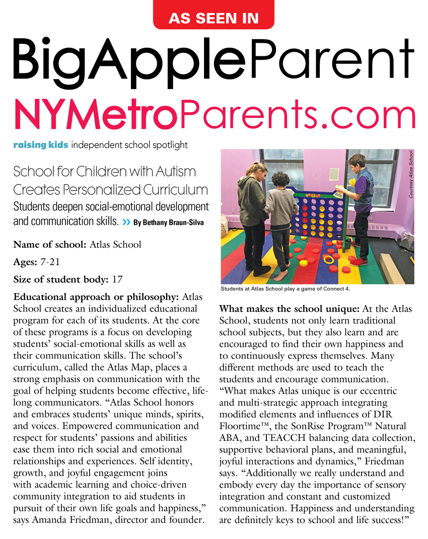 Atlas Article in Big Apple Parent Mag